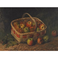 apples in a basket by emma may martin