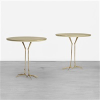 traccia tables from the ultramobile collection (pair) by meret oppenheim