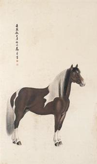 骏马图 by ma jin