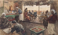 café à tétouan by george bertin scott