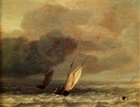 smalschips in choppy seas by hendrik rietschoof