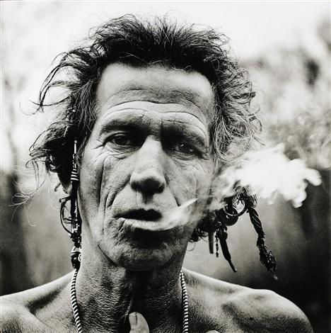 keith smoking by anton corbijn
