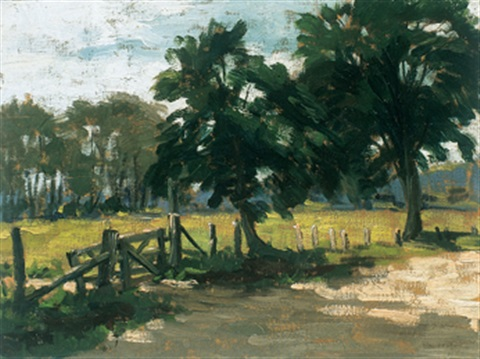 summer landscape by paul barnard earle