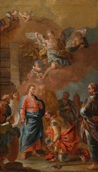 christus und der hauptmann von kapharnaum by daniel gran