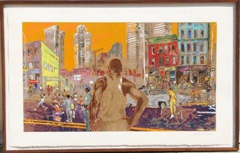 harlem streets by leroy neiman
