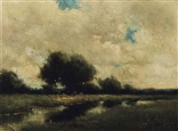 a pastoral landscape by milne ramsey