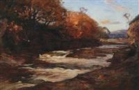 angler by a stream by joseph malachy kavanagh