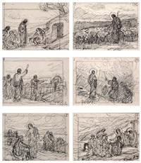 escenas de la vida de jesús (set of 6) by dionisio baixeras y verdaguer