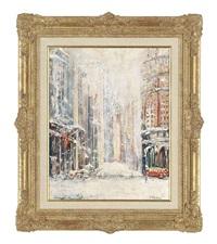 new york in snow by felix fabian