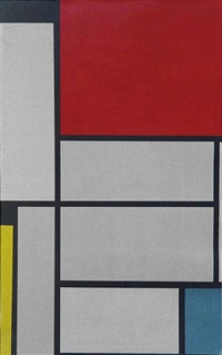 composition with a red square by piet mondrian