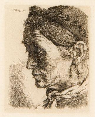 bäuerin mit niedergeschlagenen augen by wilhelm maria hubertus leibl