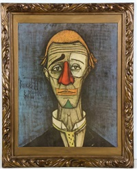 portrait of a clown by bernard buffet