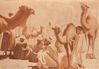 marché aux chameaux by ernest-louis lessieux