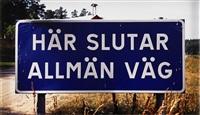 här slutar allmän väg by dan wolgers