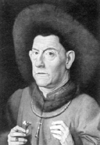 portrait of a gentleman with a fur hat by jan van eyck