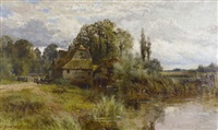 mapledurham mill, oxon by john horace hooper