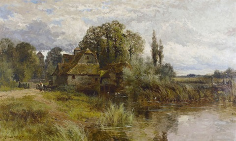 mapledurham mill oxon by john horace hooper