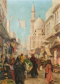 busy bazaar by georg macco