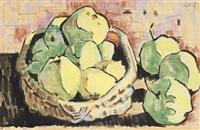 stilleben mit äpfeln by karl schmidt-rottluff