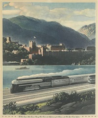 the new empire state express passing west point by leslie ragan
