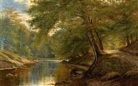 idyllische bachlandschaft by sophus jacobsen