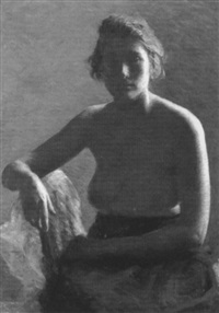 female nude study by gertrude nason