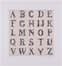 appropriated alphabets 12 by peter blake