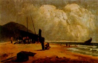 on the welsh coast, near barmouth by thomas morris ash