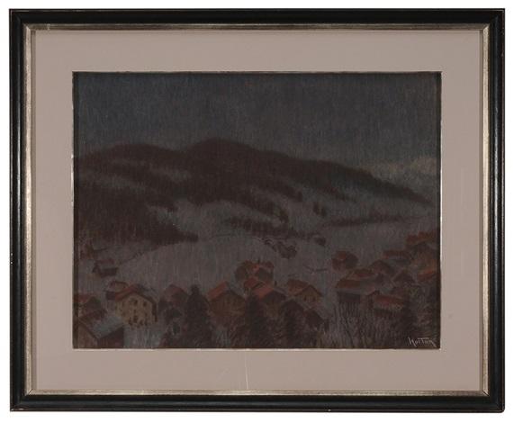snowy winter evening by william samuel horton