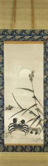 crabe et bambous by shohaku