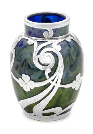 A Loetz Titania Silver Overlay Vase By Johann Ltz Witwe On Artnet