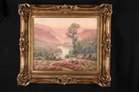 les bruyères en fleurs sur les coteaux by gaston anglade