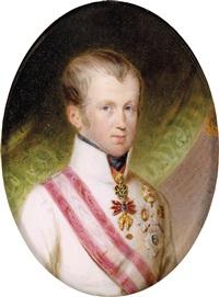 bildnis ferdinand i., kaiser von österreich in uniform mit dem orden vom goldenen vlies by alois von anreiter