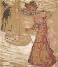 la femme au jardin public by edouard vuillard