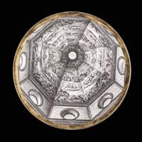 tredici piatti cupole d'italia by piero fornasetti