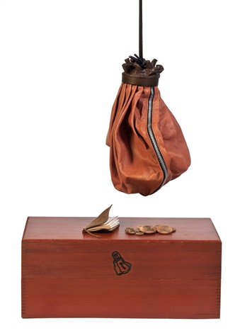 double-nose/purse/punching bag/ashtray by claes oldenburg