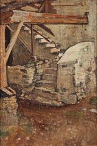 l'escalier, vercorin by edouard (eugène françois) vallet