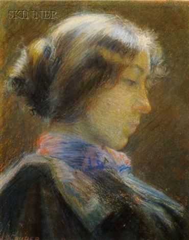 portrait of a woman in profile by j s couper