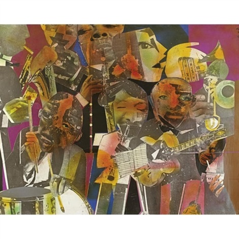 the savoy by romare bearden