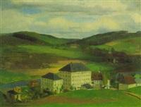 die baumwollspinnerei und strickgarnfabrik von max hauschild in hohenfichte by heinrich eduard muller
