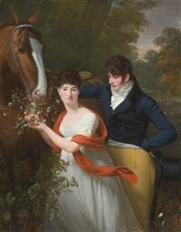 portrait of jean-louis gustave d'hautefort, and his sister, marie-thérèse-thaïs d'hautefort by henri-pierre danloux