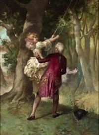 pareja en columpio by mariano alonso pérez