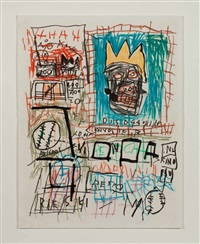 sans titre (beisbol) by jean-michel basquiat