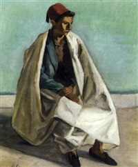 jeune tunisien au burnous by camille leroy