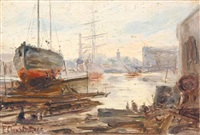 the dry dock, cape town by edward clark churchill mace