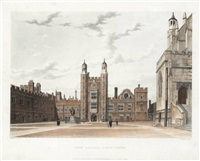 views of winchester, charterhouse and eton (12 works) by (publisher) rudolph ackermann