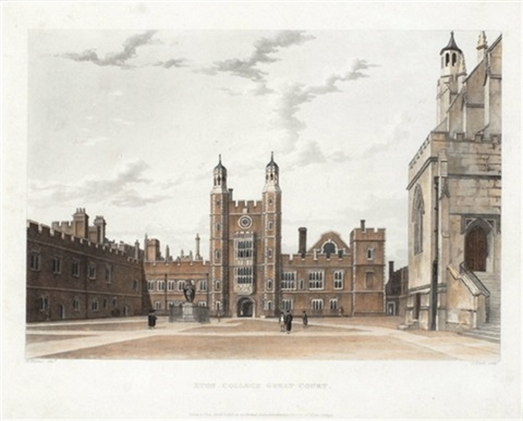 views of winchester charterhouse and eton 12 works by publisher rudolph ackermann