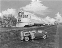 taking the high road/a burlington route locomotive by james b. deneen