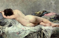 reclining nude by cesare bacchi