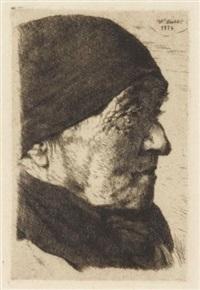 bildnis einer alten bäuerin (profil nach rechts) by wilhelm maria hubertus leibl